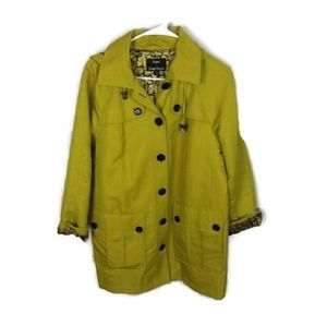 Dennis Basso Green Coat with attach hood